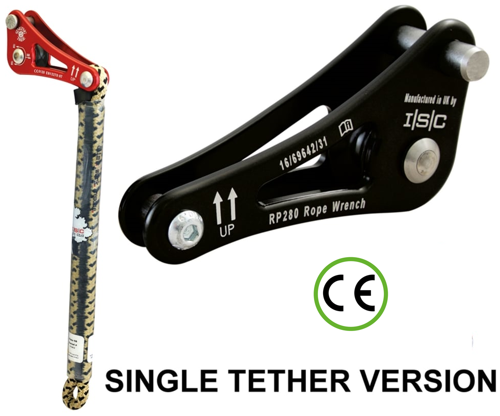 ISC Rope wrench ZK-2 with single tether (Black)