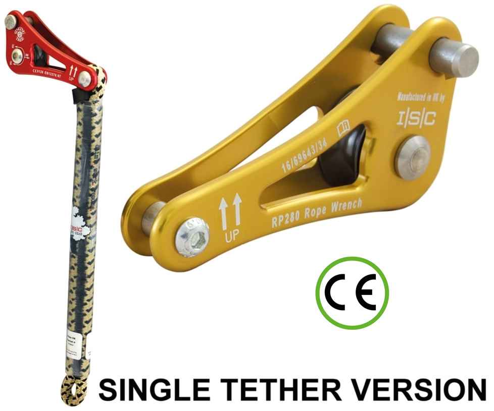 ISC Rope wrench ZK-2 with single tether (Gold)
