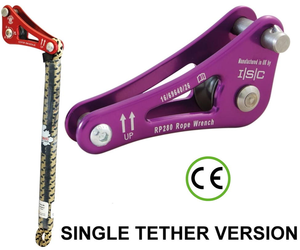 ISC Rope wrench ZK-2 with single tether (Purple)