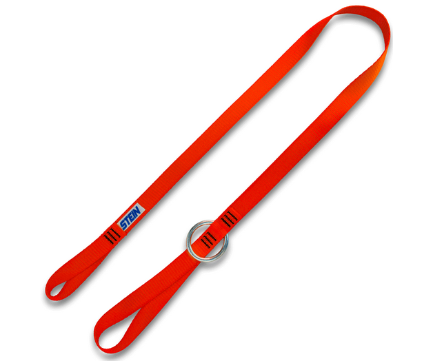 Stein orange webbing tool strop 1.3 metres 1 metal ring 20mm