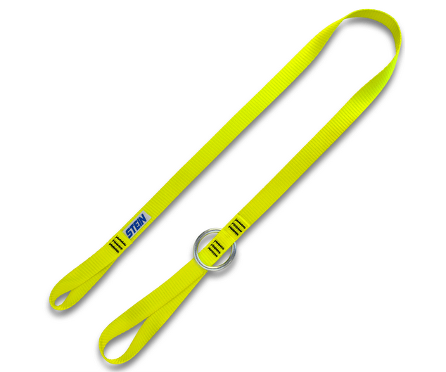 Stein yellow webbing tool strop 1.3 metres 1 metal ring 25mm