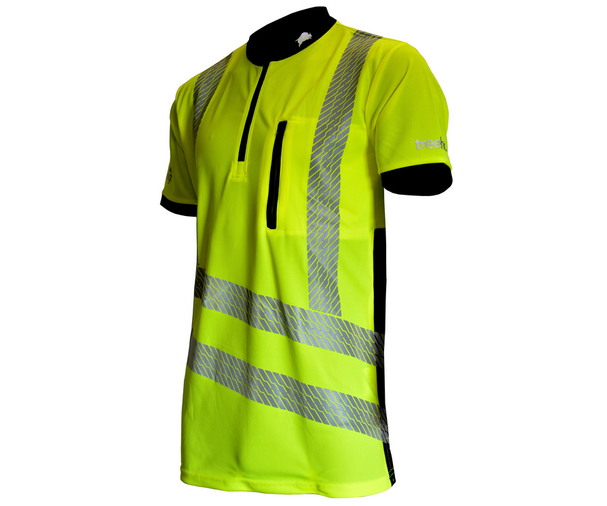 Treehog short-sleeve T-shirt (Hi-viz yellow)