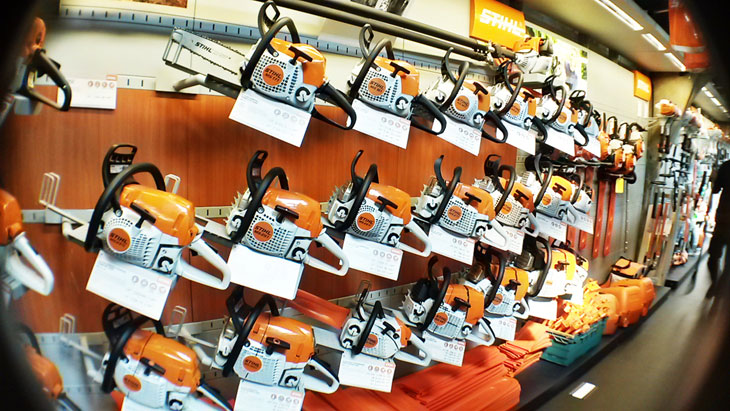 Our range of Stihl chainsaws