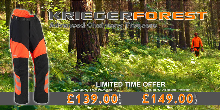 Save on Stein Krieger Forest chainsaw trousers