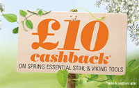 £10 cashback on selected Stihl and Viking machines
