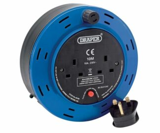 Draper 10m twin extension cable reel