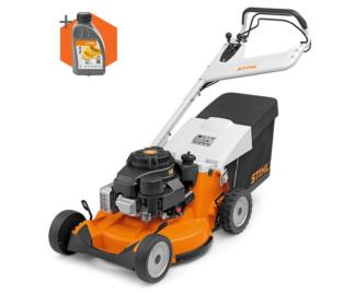 Stihl RM 756 GC petrol self propelled four wheeled lawn mower (54cm cut)