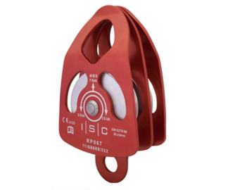 ISC 70kn large swing cheek double pulley (for 16mm rope)