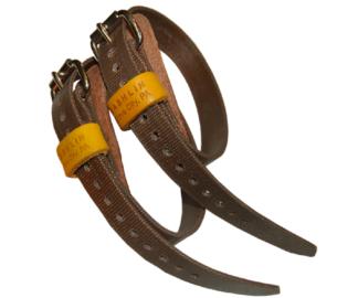 Bashlin calf straps for climbing spikes