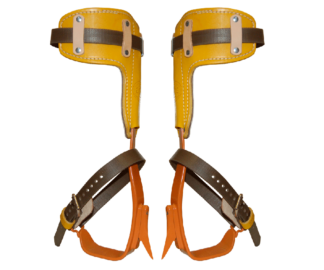 Bashlin twisted steel climbing spikes (leather pads)