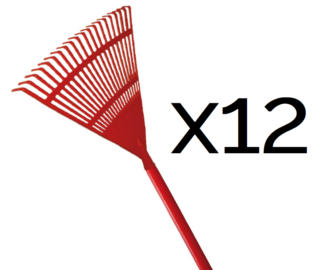 Kamikaze fan rake with wooden handle (400mm) (12 pack for the price of 10)