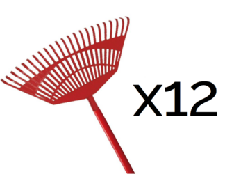 Kamikaze fan rake with wooden handle (450mm) (12 pack for the price of 10)