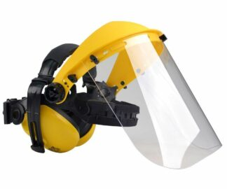 Oregon clear poly safety visor with ear defenders kit