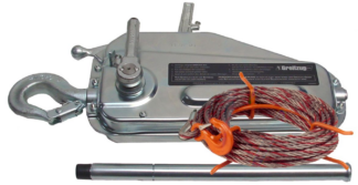 Tirfor TU8 winch with 20m cable