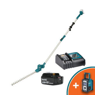 """Makita DUN461WRT 18V LXT Telescopic battery pole hedge cutter (18"""" cut) (Kit (with battery & charger))"""