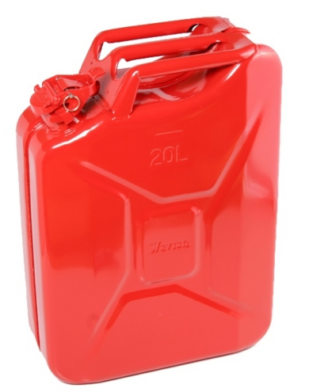 Metal jerry can red (20 litres)