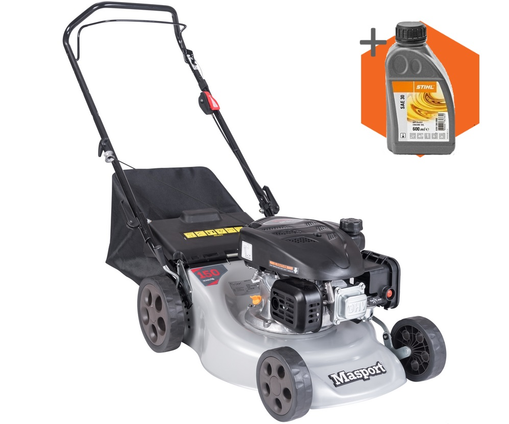 Masport 150 ST L Combo petrol push four wheeled lawn mower (16