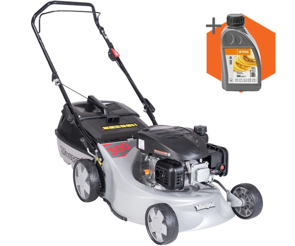 Masport 300 AL L petrol push four wheeled lawn mower (18