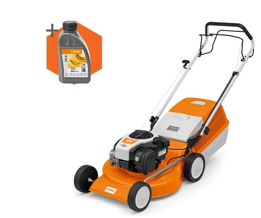 Stihl RM 253 T petrol self-propelled four wheeled lawn mower (51cm cut)