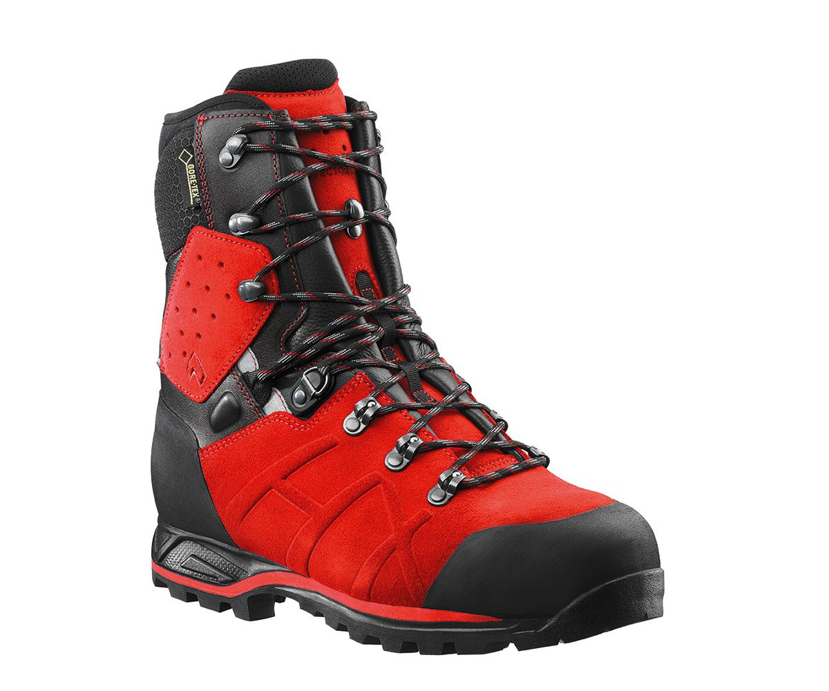 Haix Protector Ultra chainsaw boots (Red) (class 2)