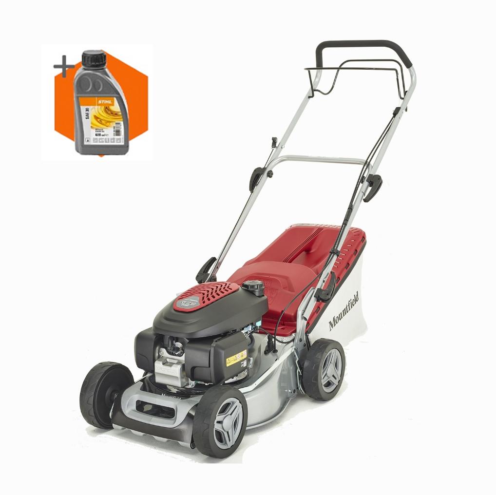 Mountfield SP425 petrol self propelled four wheeled lawn mower (41cm cut)
