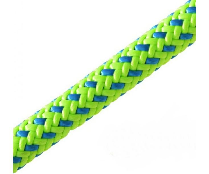 New England Tachyon 11.5mm climbing rope (Green & Blue) (Spliced 1 end)
