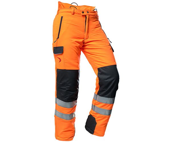 Pfanner Arborist chainsaw trousers hi-viz Orange GO/RT Type C