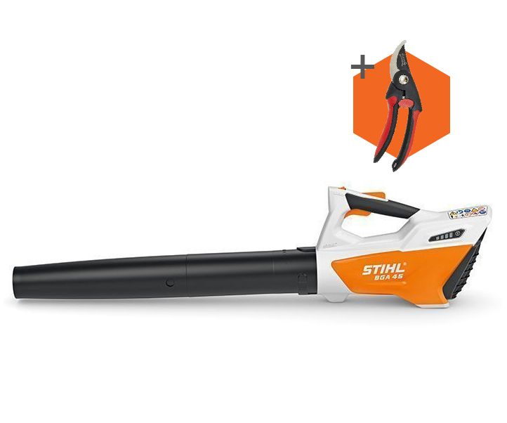 Stihl BGA 45 cordless battery blower (integrated battery) (comes with Wilkinson Sword secateurs)