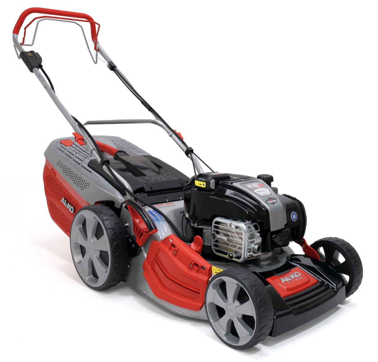 AL-KO Highline 46.8 SPi petrol push four wheeled lawn mower (42cm cut)