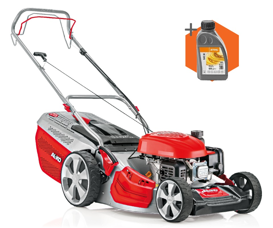 AL-KO Highline 51.8 SP-A petrol self-propelled four wheeled lawn mower (51cm cut)