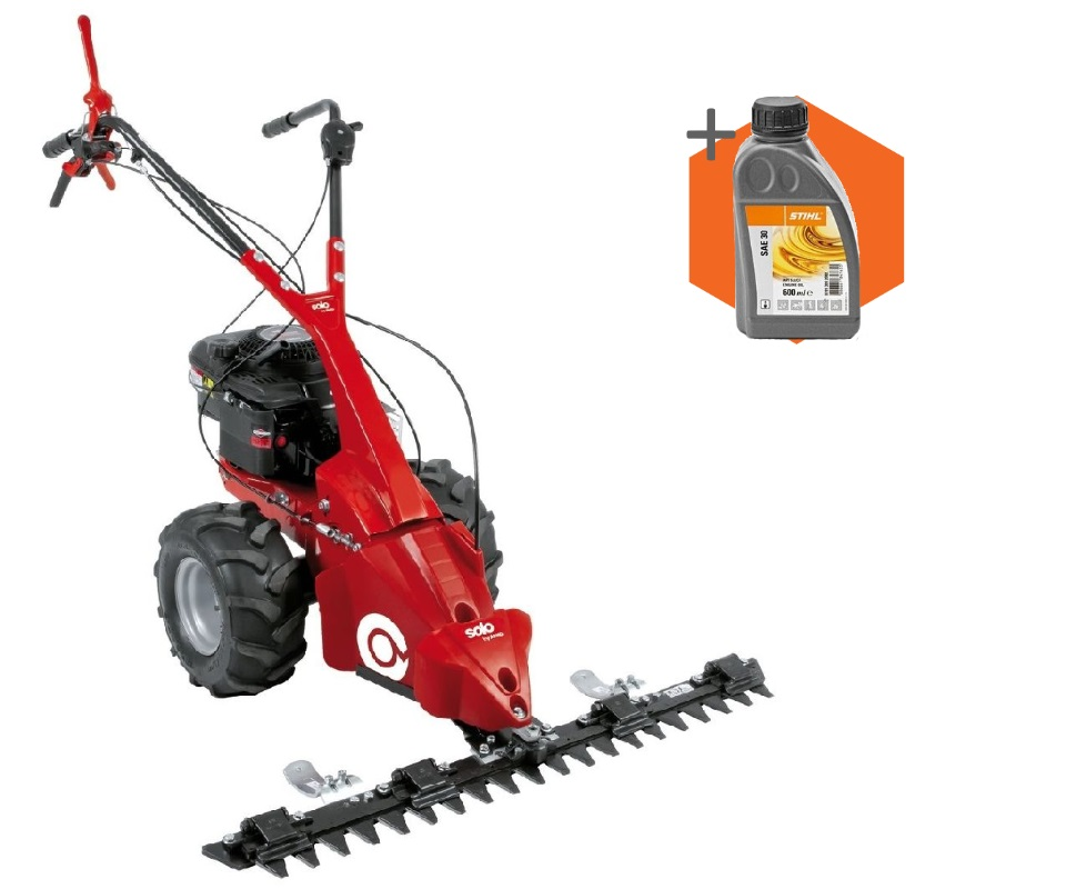 AL-KO Solo BM5001-R II petrol self-propelled two wheeled scythe mower (40