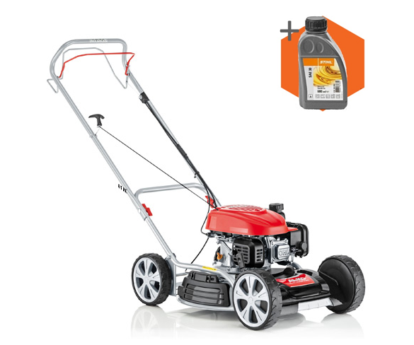 AL-KO 468 SP-A Bio petrol push four wheeled lawn mower (46cm cut)