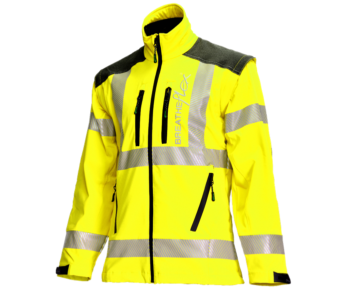 Arbortec Breatheflex performance work jacket (Hi-Viz Yellow)