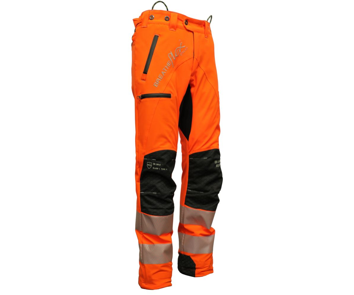 Arbortec Breatheflex Pro chainsaw trousers Type C, class 1 (Hi-Viz Orange)