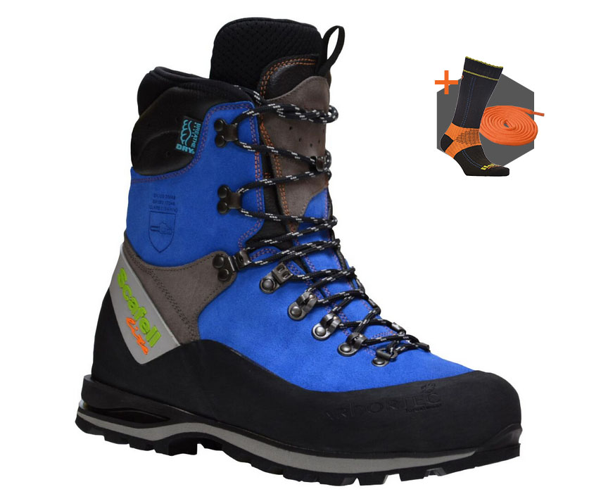 Arbortec Scafell Lite Blue chainsaw boots (class 2)