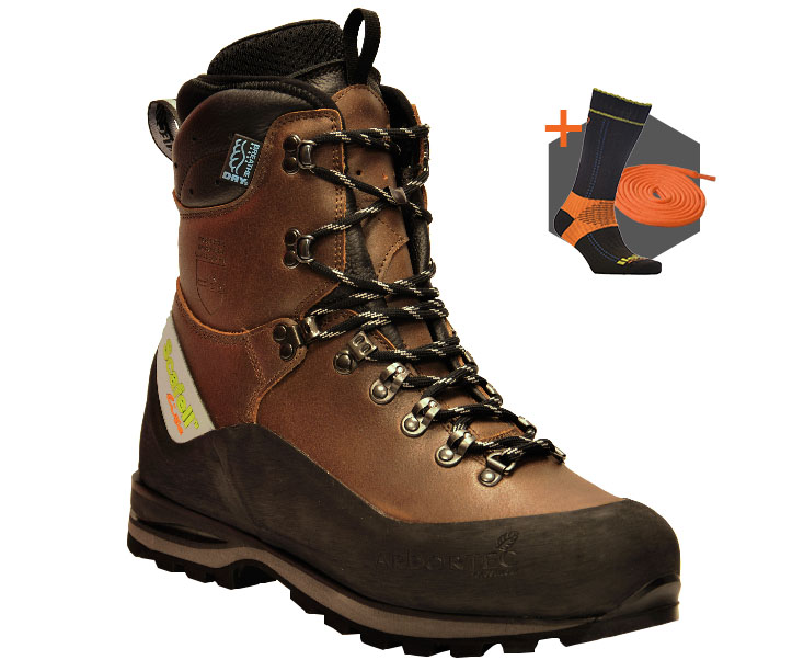 Arbortec Scafell Lite Brown chainsaw boots (class 2)