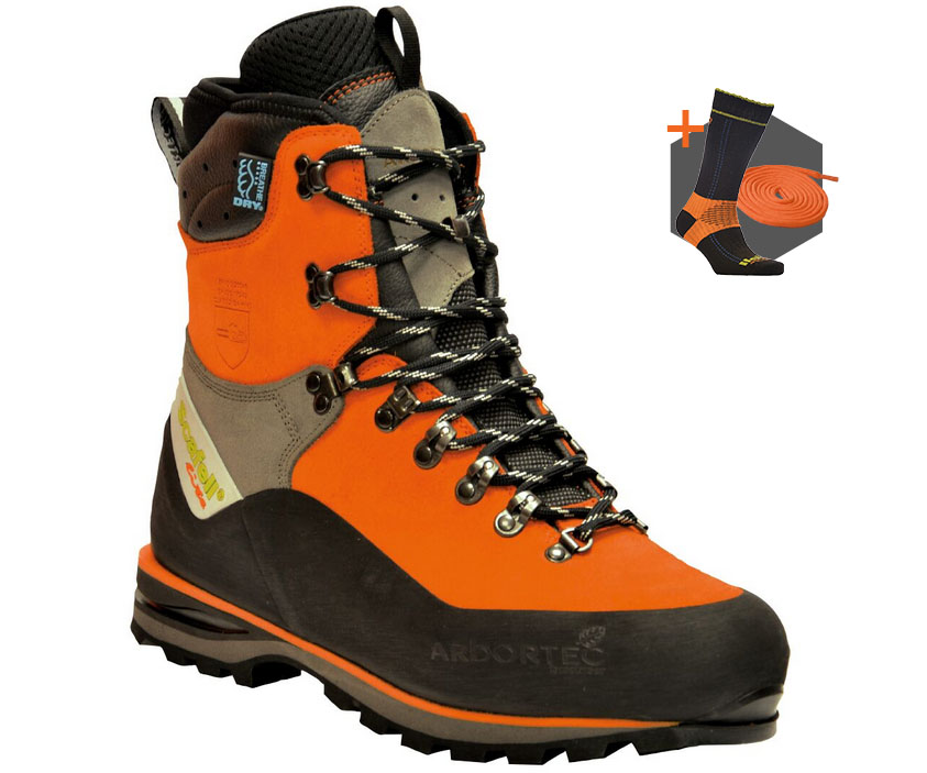 Arbortec Scafell Lite Orange chainsaw boots (class 2)