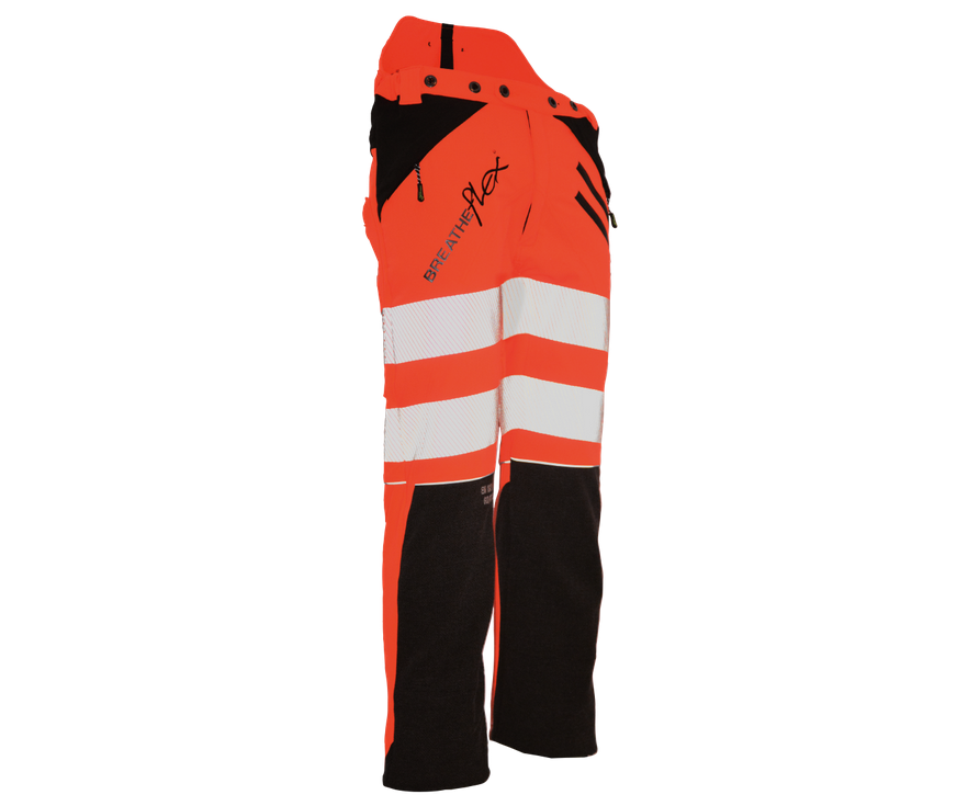 Arbortec Breatheflex GO/RT chainsaw trousers Type C, class 1 (Hi-Viz Orange, Kevlar)