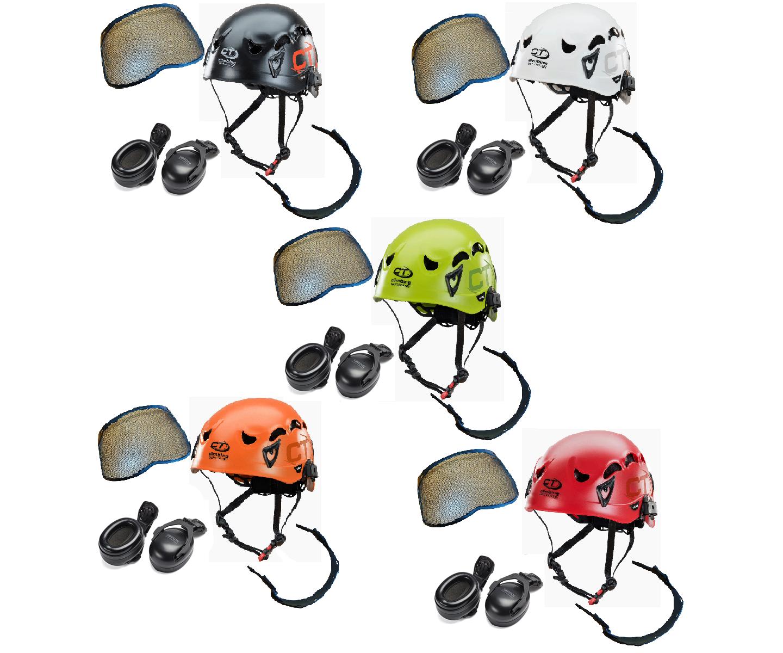 CT X-Arbor ABS climbing helmet assembly, MSA Sordin ears (31SNR) / mesh visor