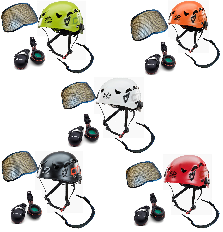 CT X-Arbor ABS climbing helmet assembly, MSA Sordin ears (26SNR) / mesh visor