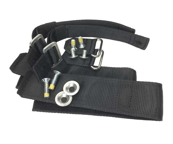 Distel replacement pair of Velcro bottom straps (Aluminium & Carbon)