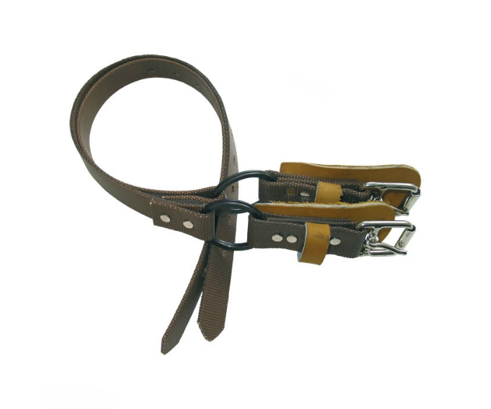 Distel replacement pair of leather bottom straps for climbing spikes