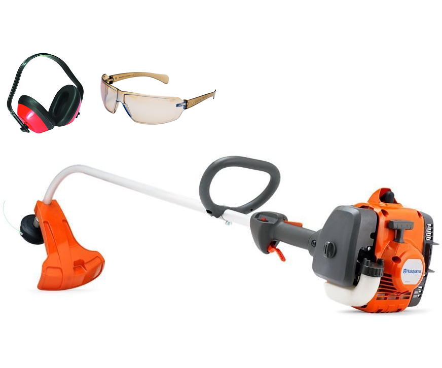 Husqvarna 122C strimmer (21.7cc) (comes with ear defenders & safety glasses)