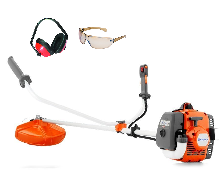 Husqvarna 129R brushcutter (27.5cc) (comes with ear defenders & safety glasses)