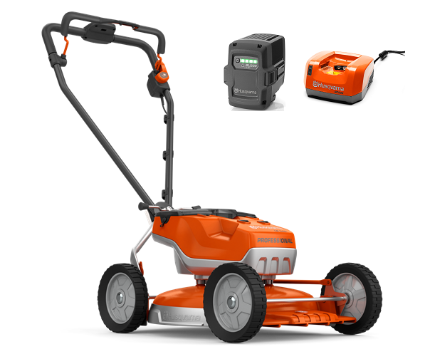 Husqvarna LB 548i battery push four wheeled lawn mower (48cm cut) (Kit (with battery & charger))