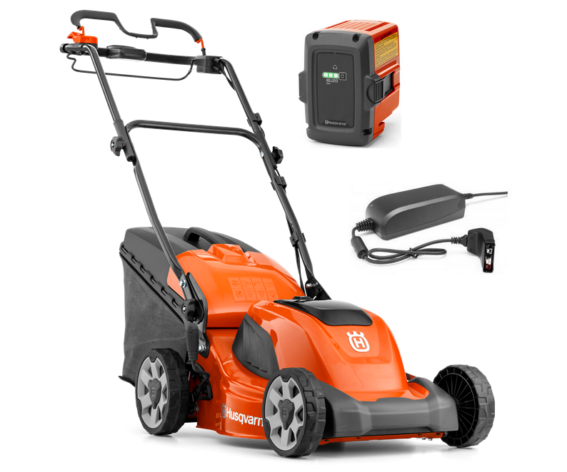 Husqvarna LC 141iV battery self-propelled four wheeled lawn mower (41cm cut) (Kit (with battery & charger))