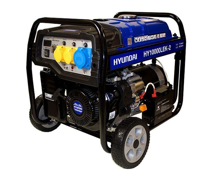 Hyundai HY10000LEK-2 petrol open frame site generator