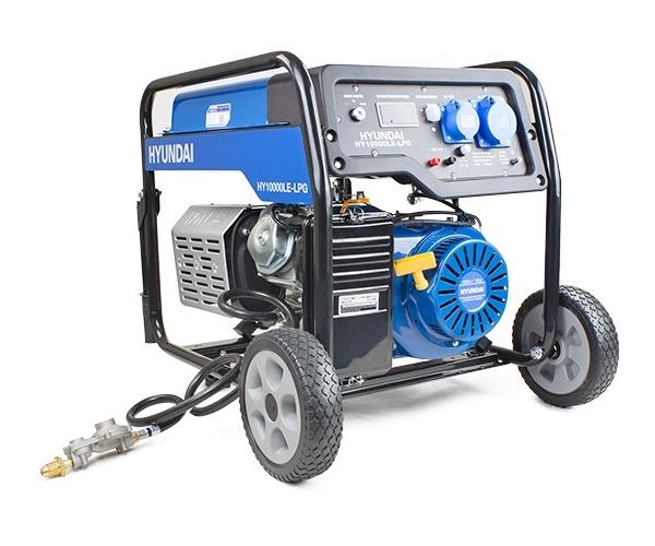 Hyundai HY10000LE-LPG dual fuel site petrol LPG generator