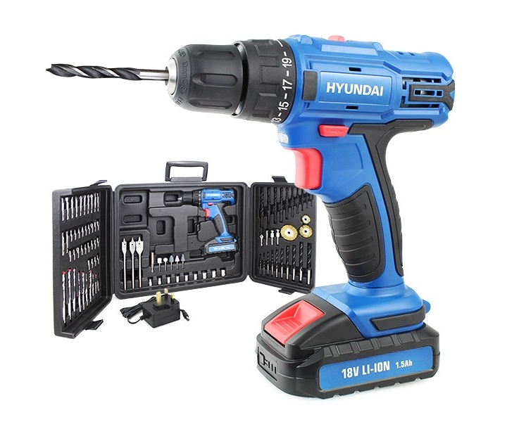 Hyundai HY2175 power drill with 89piece accessory set