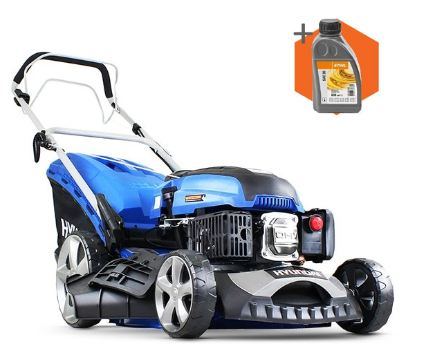 Hyundai HYM460SP petrol self propelled four wheeled lawn mower (46cm cut)